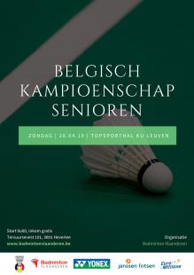 Belgian Senior Badminton Championships 2019